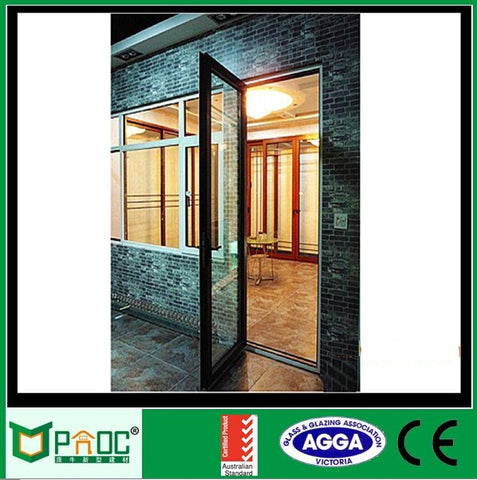 Swing aluminum alloy double french doors/exterior french doors/french patio doors with Wooden grain finished on China WDMA