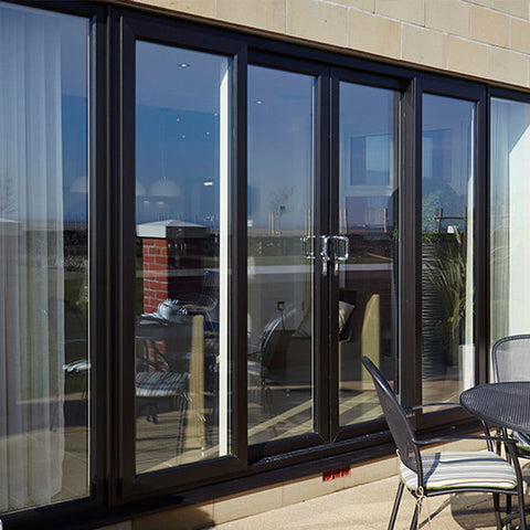 Powder coating aluminum frame automatic single glass sliding door cost on China WDMA