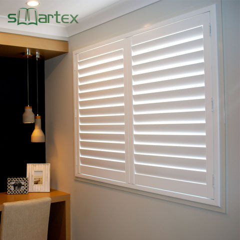Convenient Installation Operated White Window Folding Window Shades Pvc Shutter on China WDMA