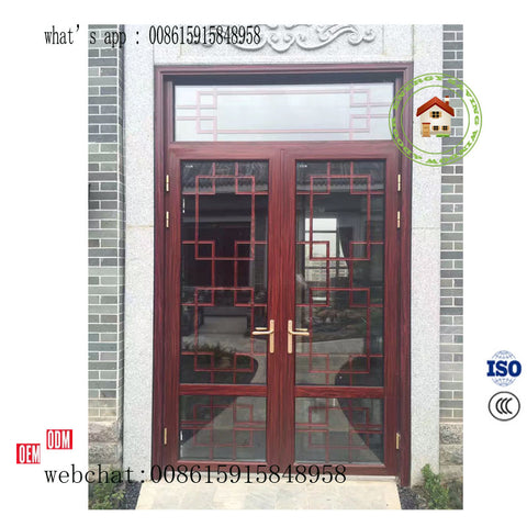 aluminum Pivot door manual type and eletric type for option on China WDMA