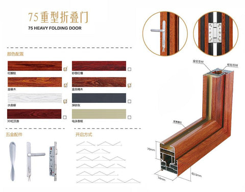 Interior Home Aluminum Exterior Glass Folding Doors Impact Resistance Door Cubicle Sliding Window Screen on China WDMA