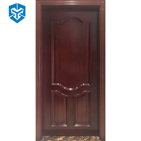 High quality custom size single double leaf exterior carved solid sliding wooden door on China WDMA