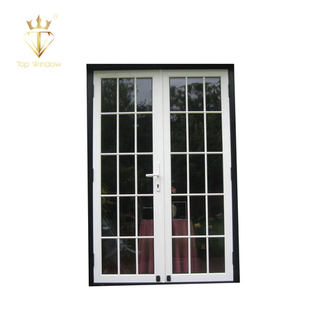 Topwindow China Factory Good Price Corner Doors Commercial Kfc Shop Front Store Front Door Double Swing Glass Entry Door on China WDMA