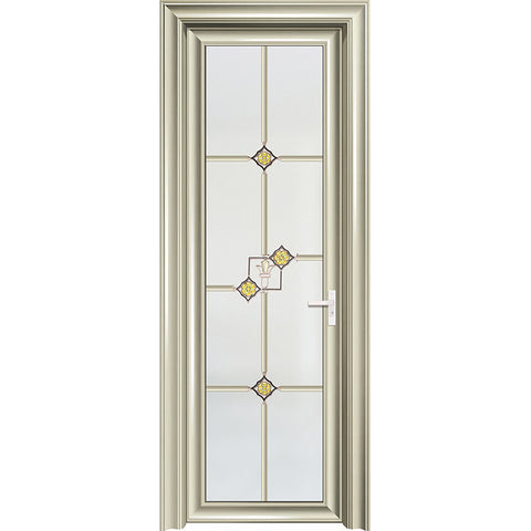 Aluminium single french doors full lite swing entry door aluminum french grille white casement swing doors on China WDMA
