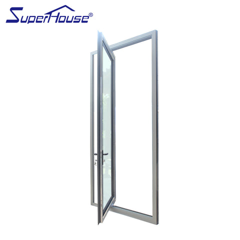 Aluminium pivot doors double glazed door on China WDMA