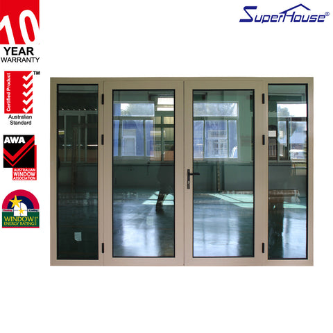 Top quality thermal break aluminium french glass doors on China WDMA
