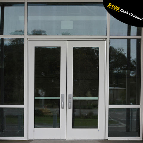 Tempered glass doors and windows for buildings,office,store front,commercial door A-030