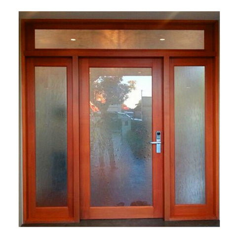 Wooden color size customized aluminium louvre door on China WDMA