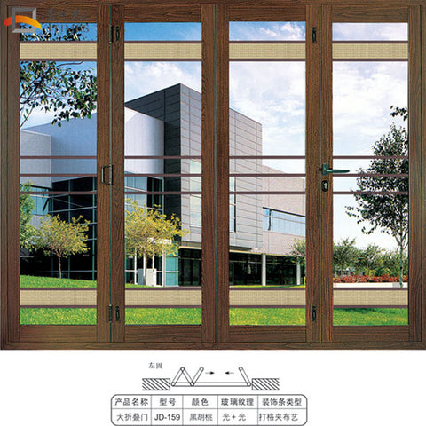 US certified and Australia certified aluminium bi folding patio doors on China WDMA