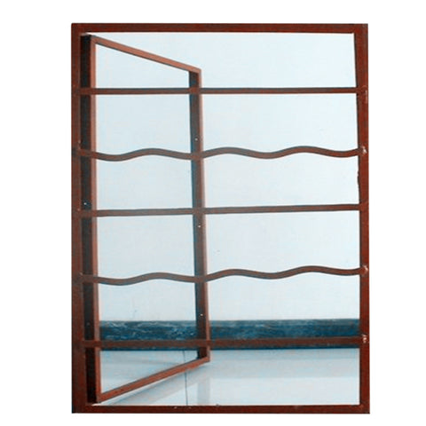 2018 popular sales steel windows made out of imported hot rolled steel new iron grill window door designs on China WDMA