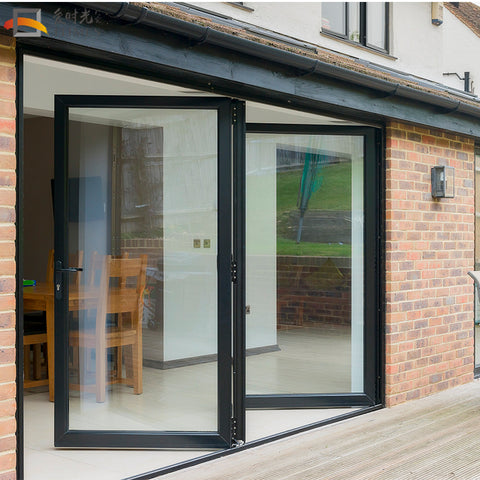 Exterior patio screen bi folding doors cheap soundproof interior glass folding door on China WDMA