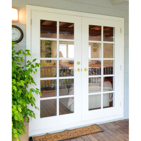 Glazed wooden 48 inch exterior french doors