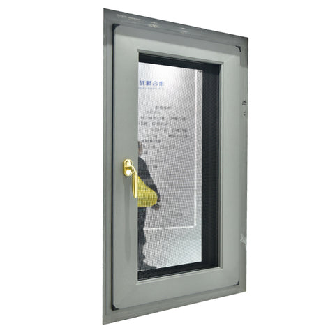 Hand Crank Pvc Windows Frosted Glass 180 Degree Inward Opening Casement Window on China WDMA