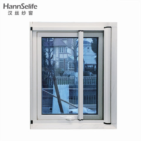 Hansi aluminium alloy retractable roller insect fly window screen and fiberglass mosquito net on China WDMA