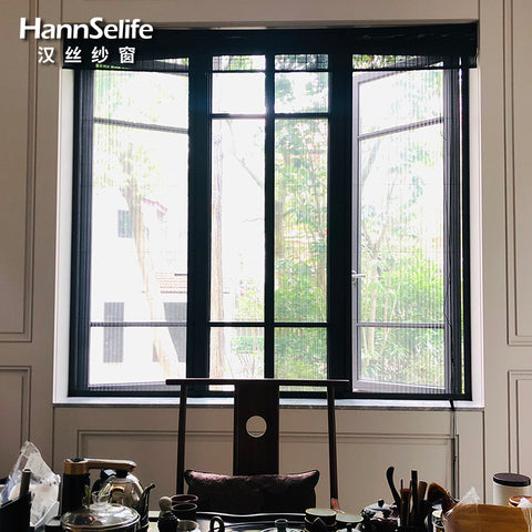 Hansi diy customization magnetic insect mesh fly screen door and window on China WDMA