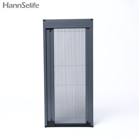 Hansi high quality security accordion insect trackless screen door for the old and the children on China WDMA