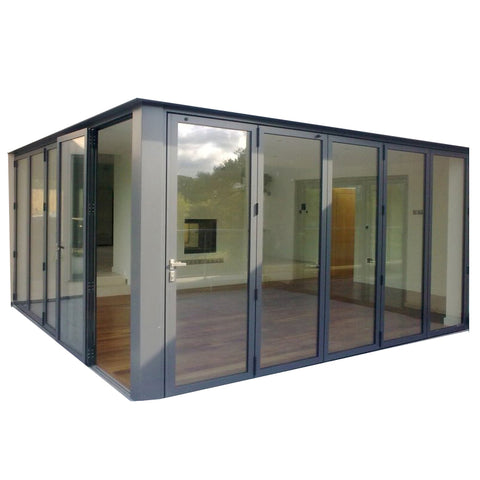 Luxury Australia standard soundproof bi fold aluminum accordion folding doors glass folding sliding glass aluminium bifold door