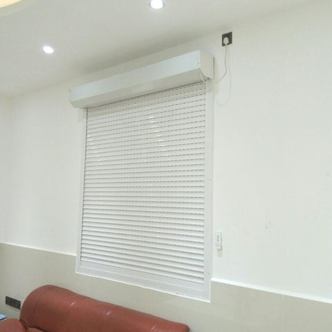 Curtain Wall Door Vertical Electronic Aluminum Automatic Roller Window Louver Shutter on China WDMA