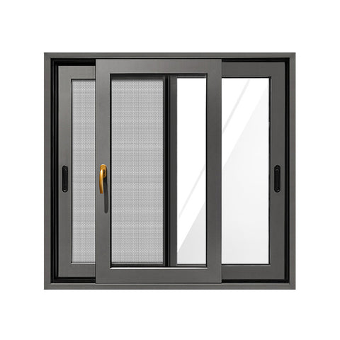 High Quality Aluminum Double Sliding Windows Window Sliding With Built In Blinds on China WDMA