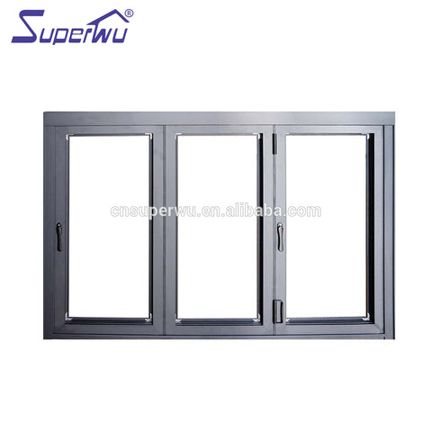 High Quality Aluminum Glass Bifold Window Folding sliding aluminum windows prices on China WDMA