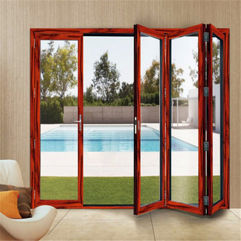 High Quality Home For Small Space Frameless Glass Patio Kenya Insulated Folding Door on China WDMA