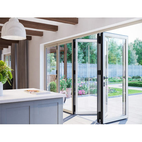 High Quality Soundproof Insulated Accordion Malaysia Patio Aluminium Sliding Folding Door on China WDMA