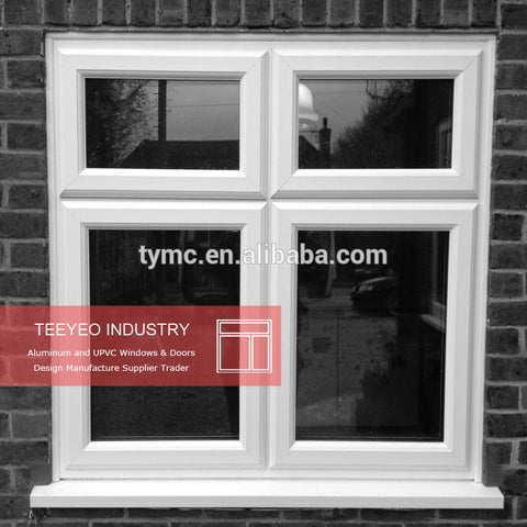 High Quality Tempered glass windows/Double UPVC windows/french casement window on China WDMA