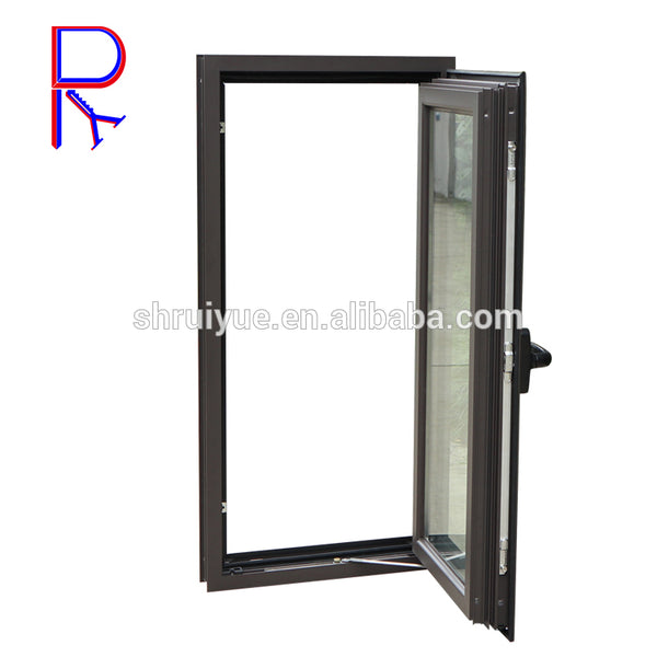 High Quality pvc/aluminum alloy profile casement hinge double glass windows on China WDMA