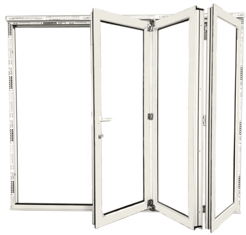 High Quality uPVC Folding Glass Patio Door with Good Prices on China WDMA
