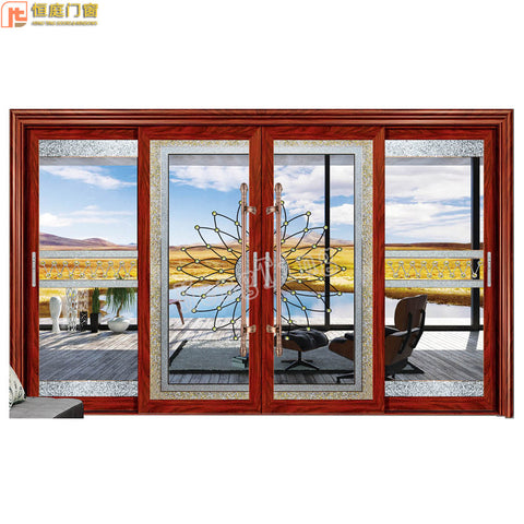 High-end aluminum sliding door system balcony sliding door fire anti-theft heavy-duty aluminum sliding door made in China on China WDMA