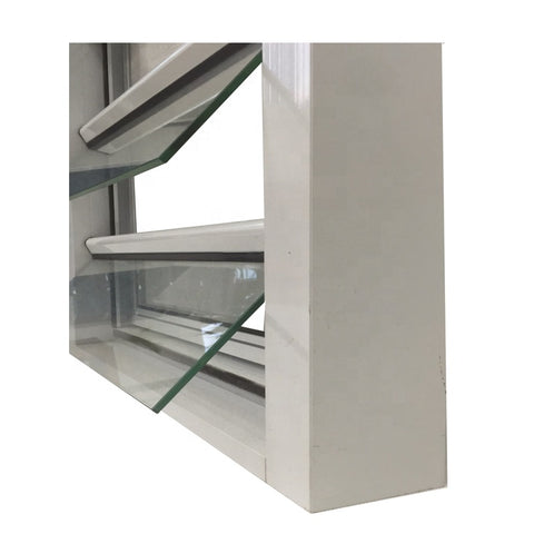 High-end mirror reflective aluminum glass shutter window with factory price on China WDMA
