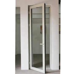 High performance thermal break modern interior exterior aluminum frame glass french doors low door sill on China WDMA