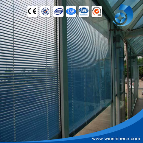 High quality 6mm+20+6mm Blind inside window glass / Hollow blind glass/ Window shutters inside the glass for building on China WDMA