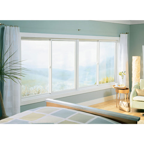 High quality large safety glass french folding aluminum windows on China WDMA