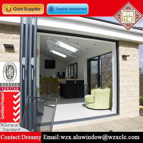 High quality lowes bi fold exterior patio doors smooth 30 inch bi fold doors uk on China WDMA
