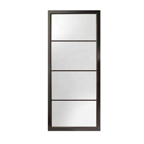 High quality wardrobe prices eclisse matte black 4 panel patio aluminum sliding stacking patio door on China WDMA