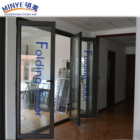 High tightness double glazed exterior bifold patio door aluminum doors on China WDMA