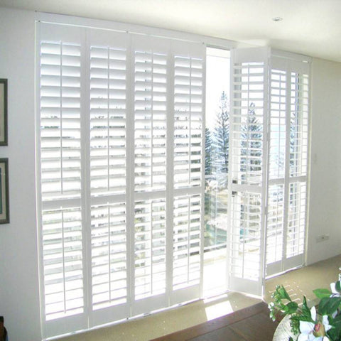Home decoration cheap price window customized shutters fixed louvers on China WDMA