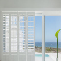 Home decoration hot sale accordion hurricane louvered windows with shutters on China WDMA