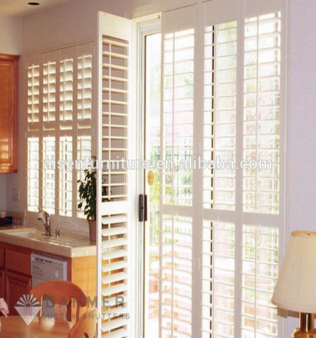 Home use customized color antique wooden window louvers on China WDMA