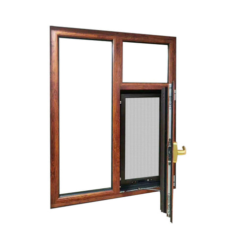 Hot Aluminum Broken Bridge Casement Windows Comfortable Space Aluminium Double Glazed Window on China WDMA