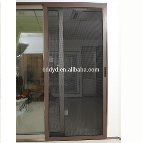 Hot Sale Stainless Steel Mesh Triple Sliding Insect Door Screen with Lock on China WDMA