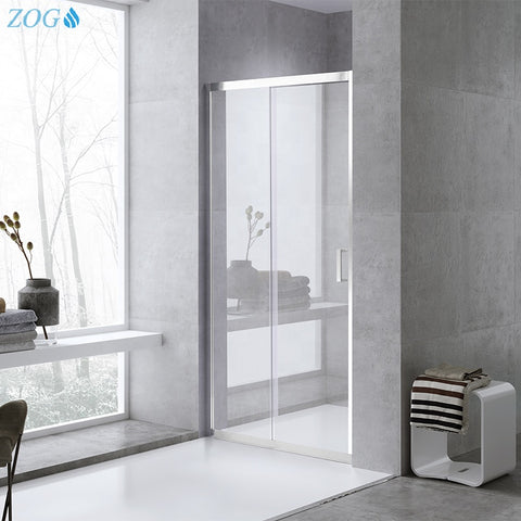 Hot Selling Bathroom Shower Glass Sliding Door in Customized Size on China WDMA