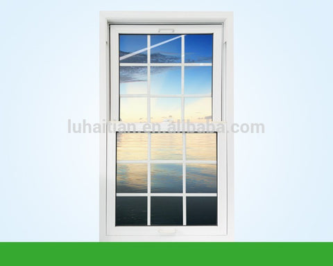 Hot sale Energy saving door and window PVC single hung window / lifting window with good soundproof and fire insulation on China WDMA