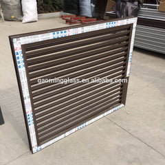 Hot sale European style double glazed aluminium glass louvers window with high quality on China WDMA