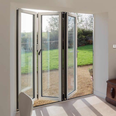 Hot sale High quality aluminum folding glass patio door with good price on China WDMA