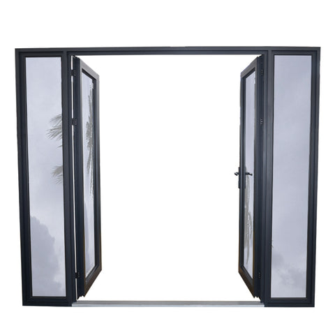 Hot sale double open exterior aluminum hinged french doors price on China WDMA