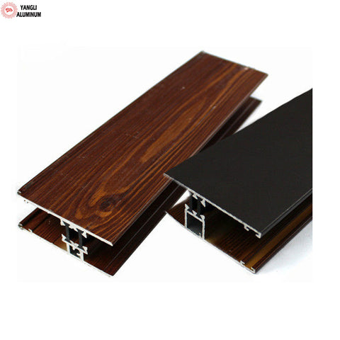Hot sale wood grain used aluminum windows and doors on China WDMA