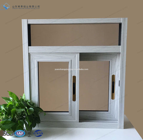 Hot sale wooden color wood grain frame sliding Glazing Low-E tempered glass windows and doors for Bedroom Kitchen Villa