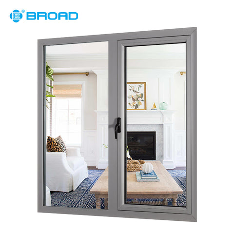 Hot sales basement adjustable aluminium double glass casement windows on China WDMA